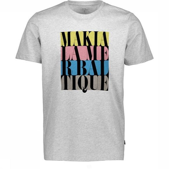 Makia T-Shirt Do Or Die T Gris Clair Mélange
