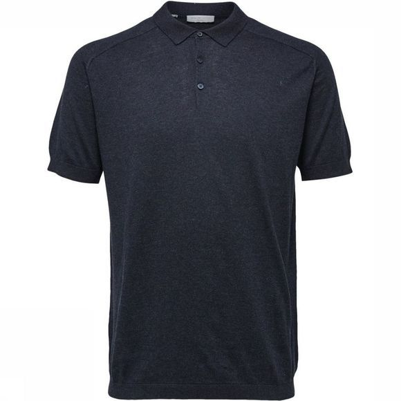 Selected Polo Shdjack Knitted Donkerblauw