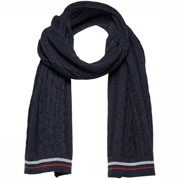 Selected Sjaal Slhnewjakey Donkerblauw