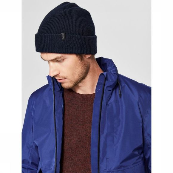 Selected Bonnet New Wool Bleu Foncé