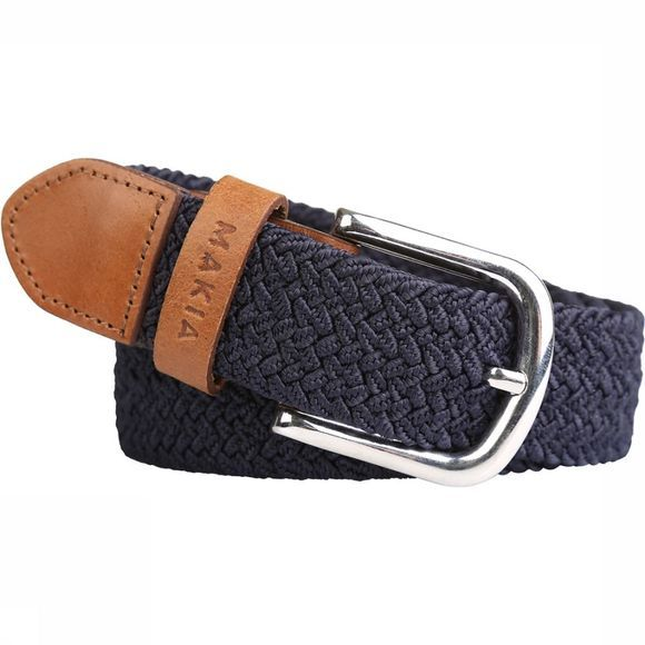 Makia Riem Braided Canvas Donkerblauw