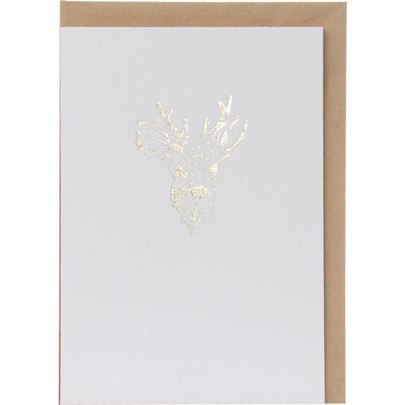 Papette Carte de Voeux Gold Fever Bambi Or/Rouge Moyen
