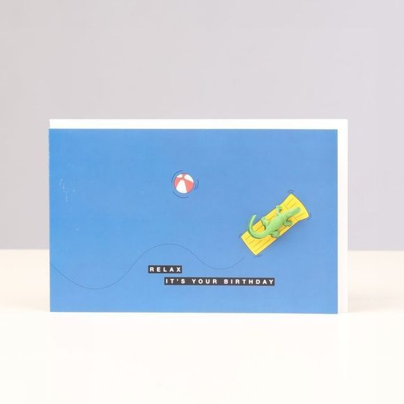 Leuke Kaartjes Carte De Voeux Relax It's Your Birthday Bleu