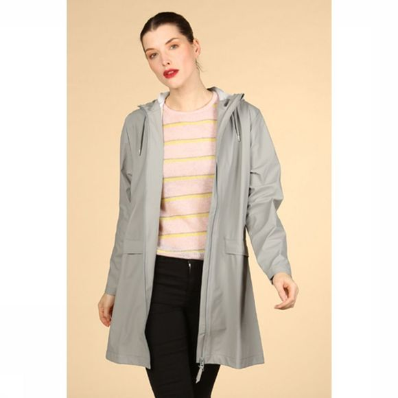 Rains Manteau W Coat Gris Clair