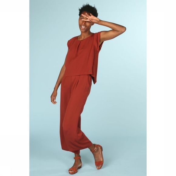 Numph Jumpsuit Aideen Donkerrood