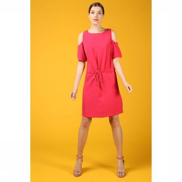 B.Young Jurk Filippo Cold Shoulder Fuchsia