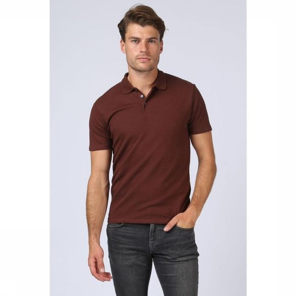 Selected Polo Slhjon Brun Foncé