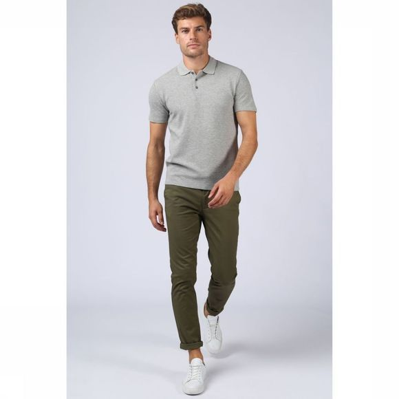 Selected Polo Slhjon Gris Clair Mélange