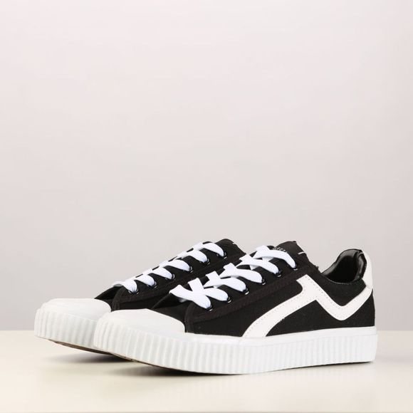 Selected Sneaker Ferica Canvas Trainer Zwart/Wit