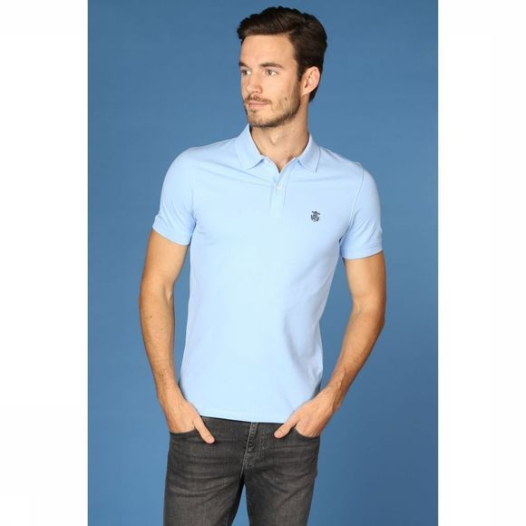 Selected Polo Shharo Bleu Clair/Bleu