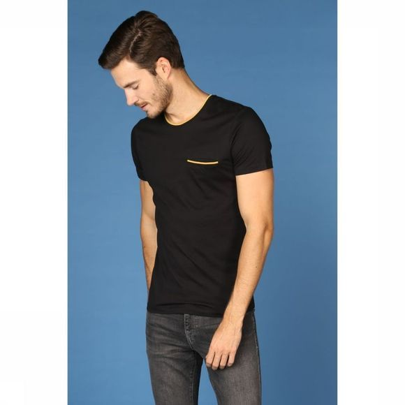 Selected T-Shirt panpocket Zwart