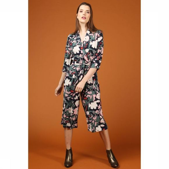 Selected Jumpsuit Sienna 3/4 Middengroen/Assortiment Bloem