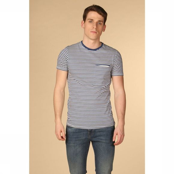 Selected T-Shirt tim Middenblauw/Wit