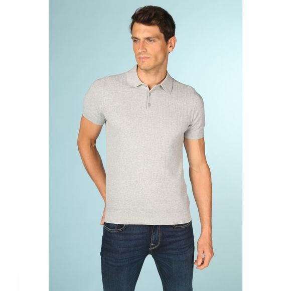 Selected Polo virgo Gris Clair Mélange