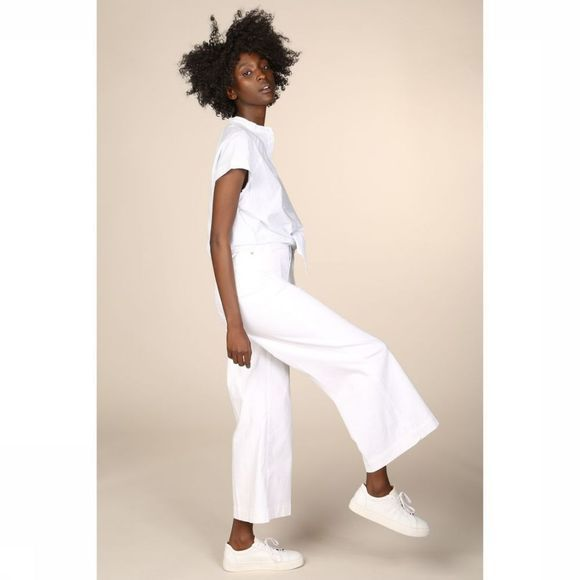 Selected Jeans Carry Hw Cropped Wide White Wit