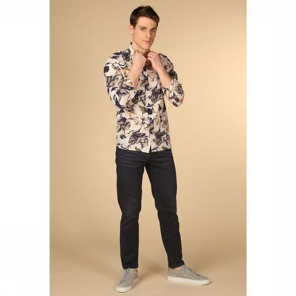 Selected T-Shirt reg Oliver Blanc Cassé/Assortiment Fleur