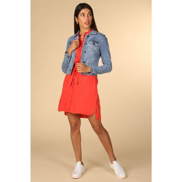 Object Blazer Win New Her Ls Denim Bleu Moyen