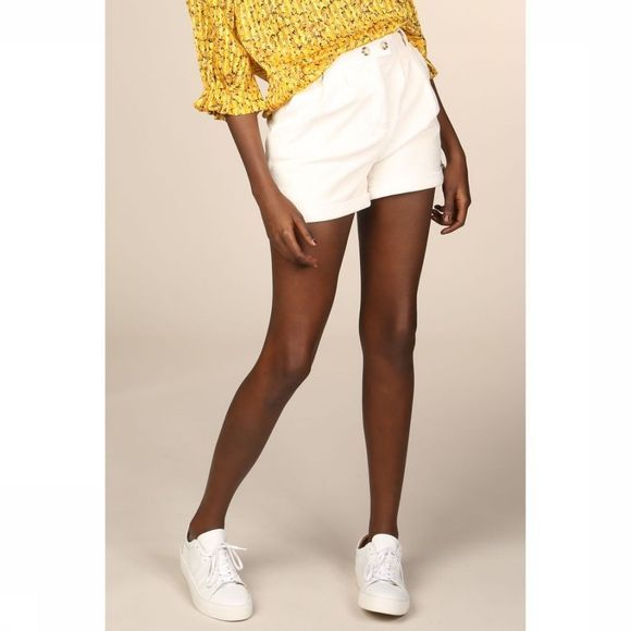 Object Short Objfreja Mw Shorts A Sp Blanc Cassé