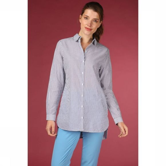 Selected Chemise cassy Ls Long Blanc/Bleu Clair