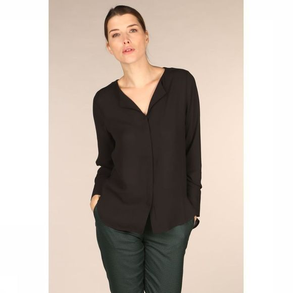 Selected Blouse Slfstina Dynella Ls Nos Noir