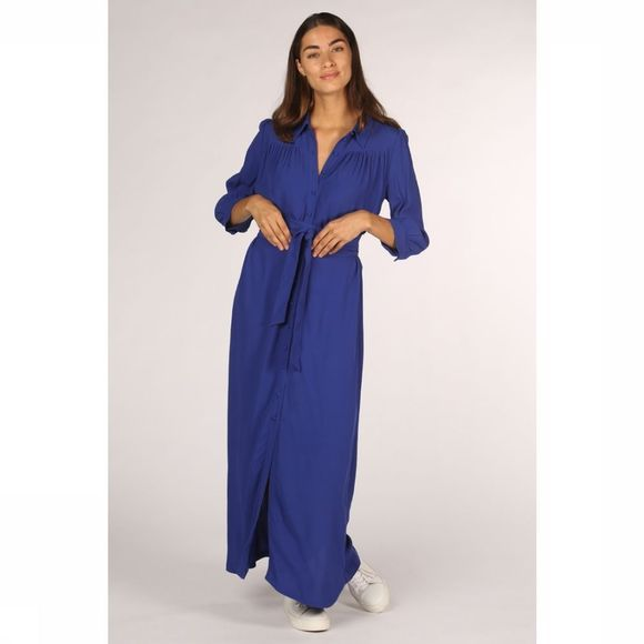 Selected Robe abigail Florenta 3/4 Ankle Bleu Roi