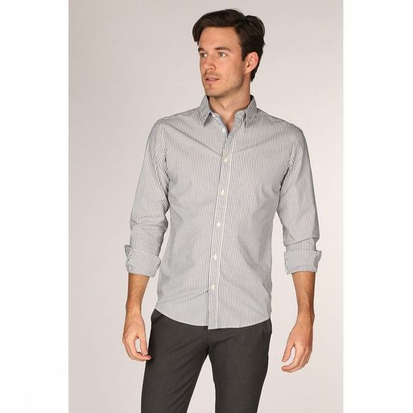Selected Chemise Slhslimharper Blanc/Bleu Clair