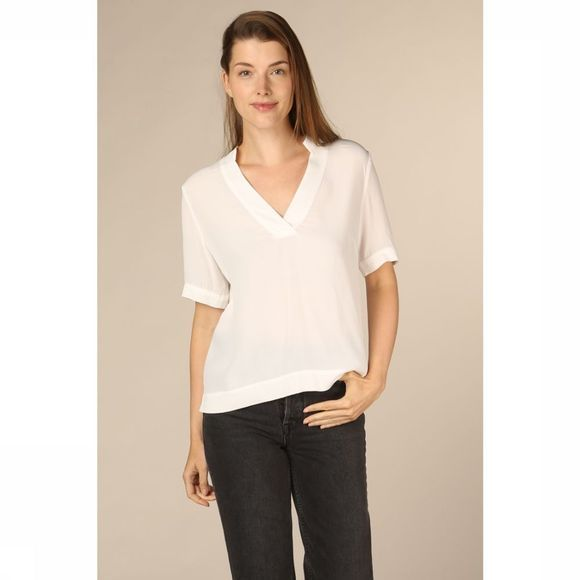 Selected Blouse pilla Ss Blanc Cassé