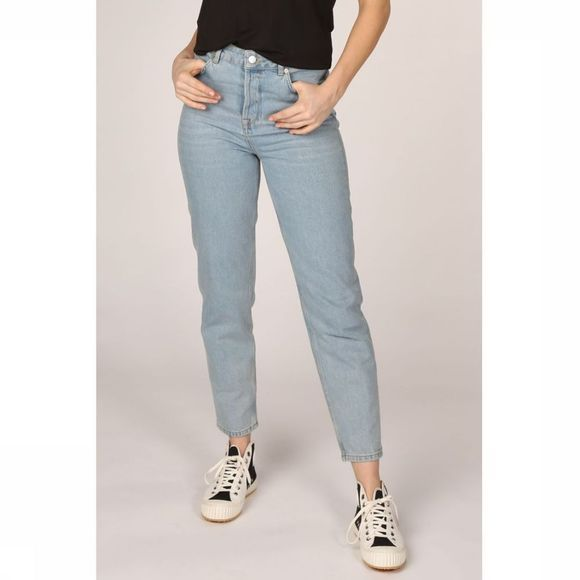 Selected Jeans Slffrida High Waist Mom Aruba Bluejeans Lichtblauw