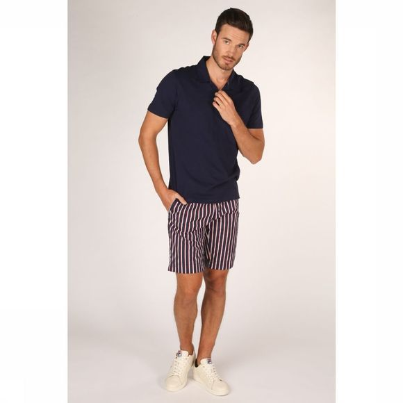 Selected Polo Slhjared Slub Donkerblauw