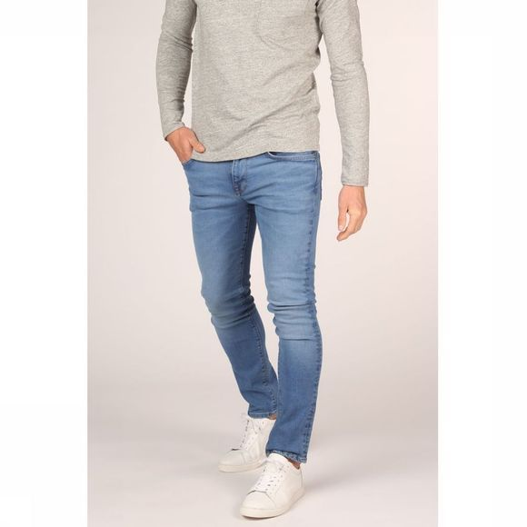 Selected Jeans Slhslimleon Bleu Moyen