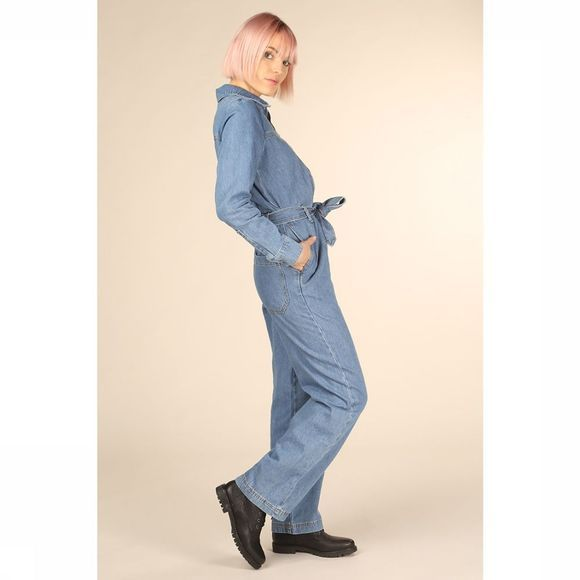 Selected Jumpsuit Dana Mid Blue Denim Middenblauw