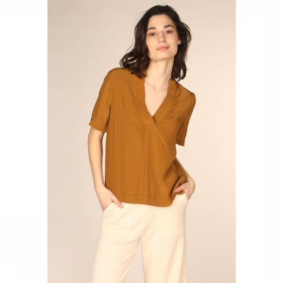 Selected Blouse Slfella Ss Rouille