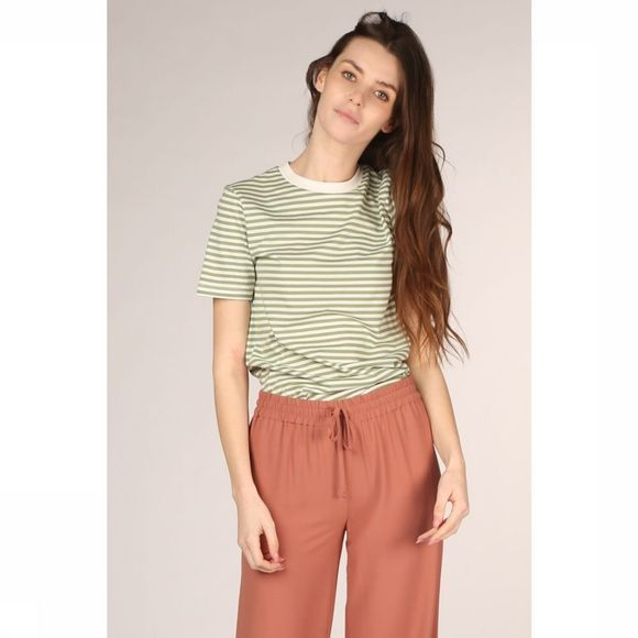 Selected T-Shirt My Perfect Ss My Box Stripe Wit/Lichtgroen