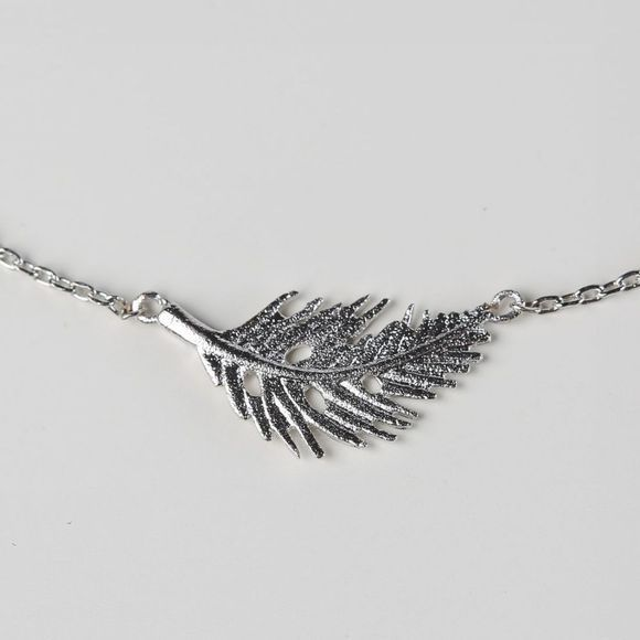 Timi Bracelet Feather Argent