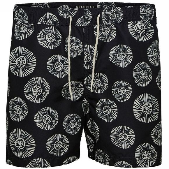Selected Short De Bain Classic Noir/Assortiment Géométrique