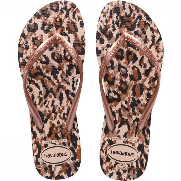Havaianas Tongs Slim Animals Rose Clair