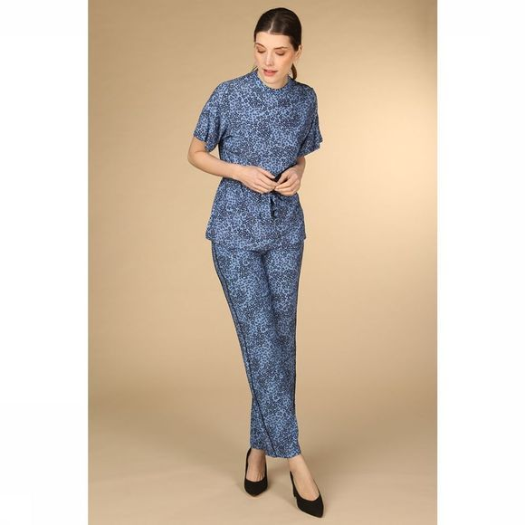 Catwalk Junkie Pantalon Tr Blue Flowers Bleu Clair/Bleu