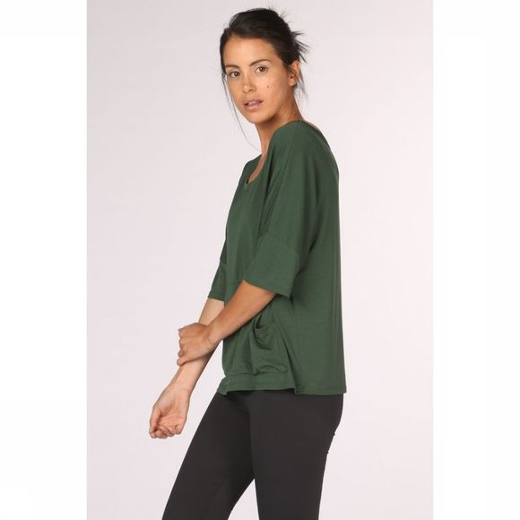 PlayPauze T-Shirt Moon Green Black Middengroen