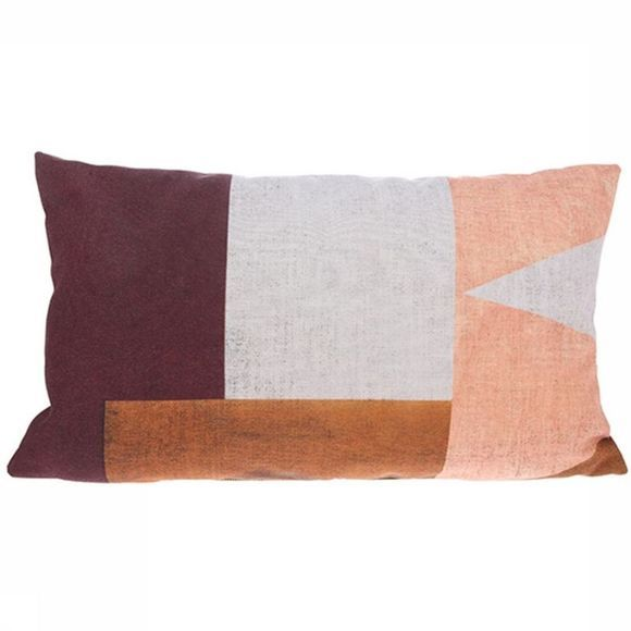 HK Living Coussin Painted Mountain Rose Clair/Pourpre Moyen