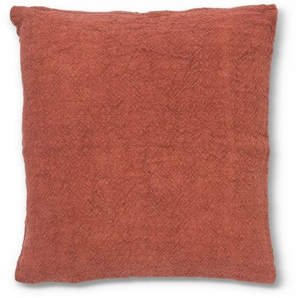 Urban Nature Culture Coussin Washed Jutte Burned Brick Rouge Clair