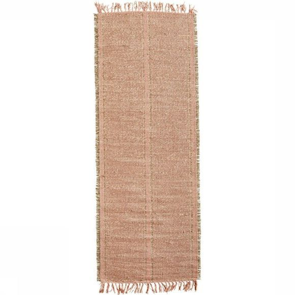 Madam Stoltz Tapis Seagrass Rug 70X200 Rose Clair