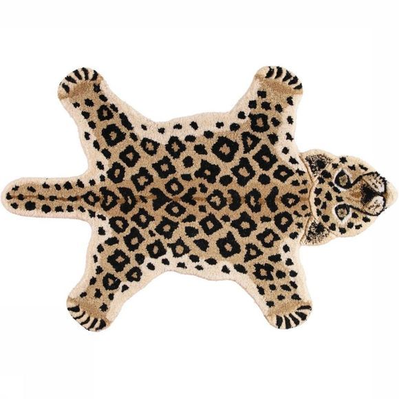 Doing Goods Tapijt Looy Leopard Rug Small Bruin