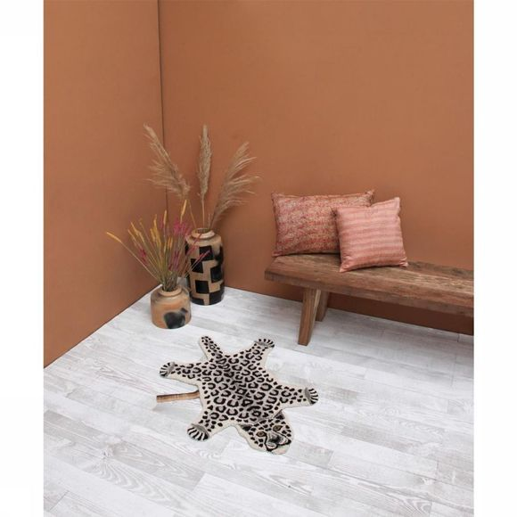 Doing Goods Tapis Loony Pink Leopard Rose Clair