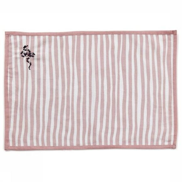 Anna+Nina Serviette Snake Place Mat Striped Rose Clair/Blanc