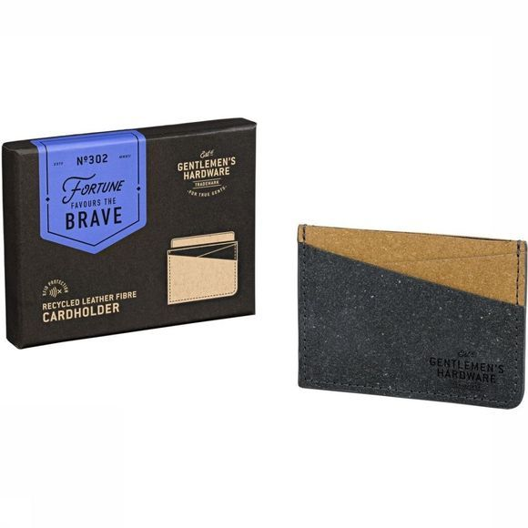 Gentlemen's Hardware Lederwaren Card Holder Recycled Leather Black&Tan Assortiment