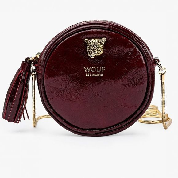 Wouf Sac Burgundy Tiger Circle Bordeaux