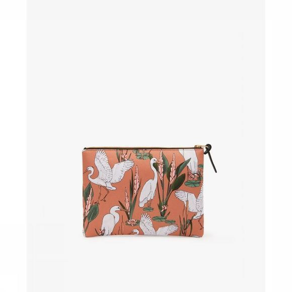 Wouf Textiel Accessoire Large Pouch Sunset Lagoon Oranje/Wit
