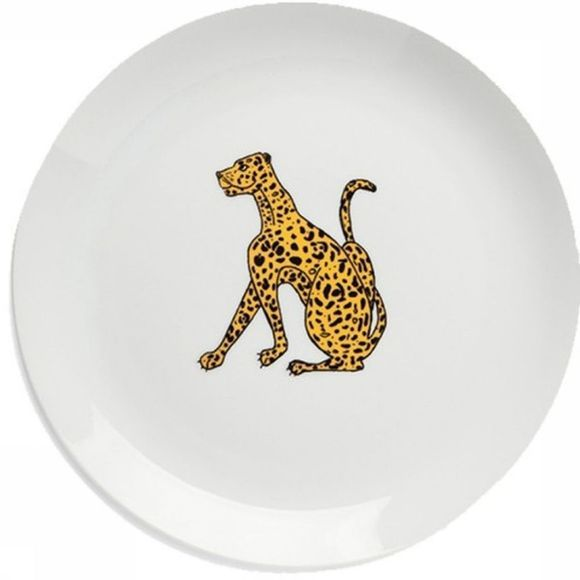 Anna+Nina Servies Leopard Dinner Plate Gebroken Wit