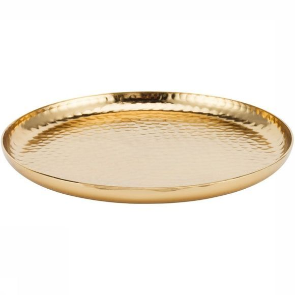 VT Wonen Bougeoir Plate Metal Gold Or
