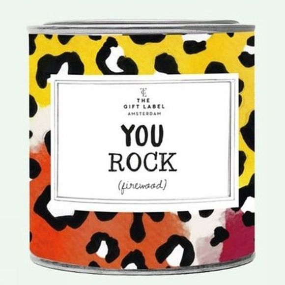 The Gift Label Bougie You Rock Vert Clair/Noir
